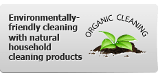 Environmentally-friendly cleaning with natural household cleaning products.