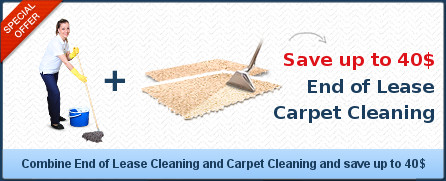 End of Lease Cleaning + Carpet Cleaning save up to 40$